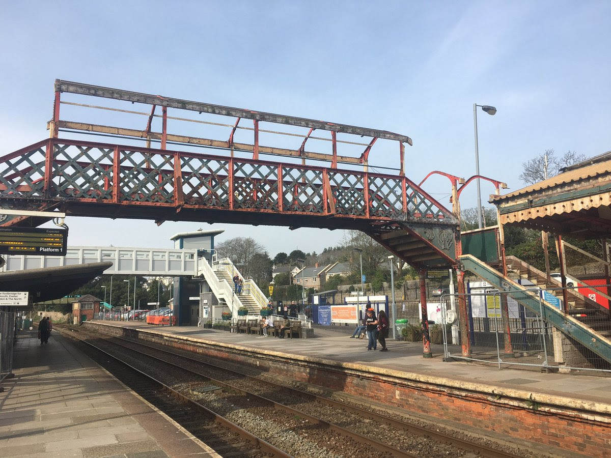 St Austell's Victorian footbridge finds new home at Helston heritage railway