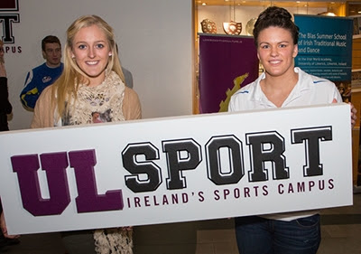 International Athlete, Sarah Lavin and Irish Olympic Swimmer, Grainne Murphy at the launch of UL Sport