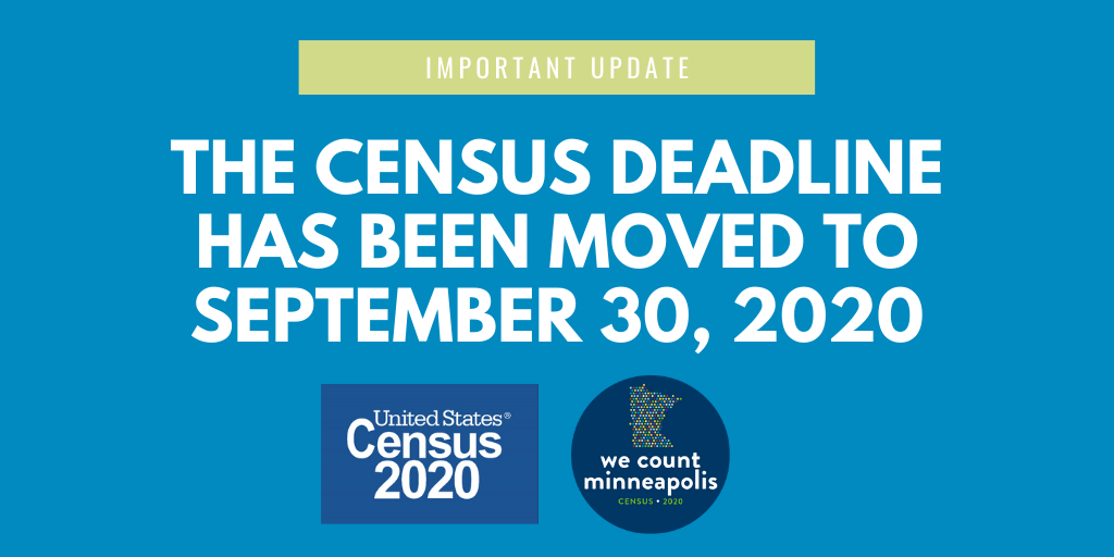 census deadline graphic