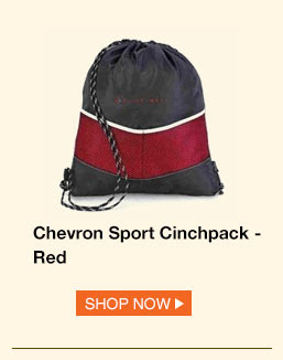 Chevron Sport Cinchpack - Red