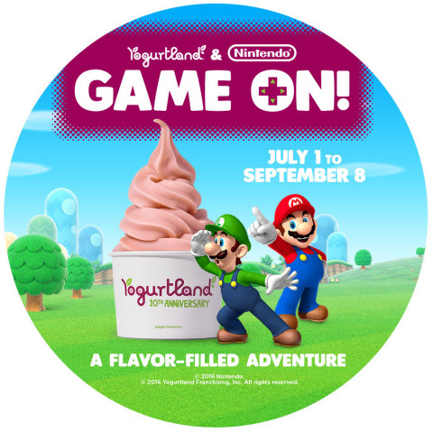 Nintendo is partnering with popular frozen yogurt chain Yogurtland this summer to take families on a ...