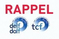 RAPPEL : inscriptions TCF/SO et DELF/DALF