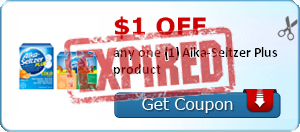 $1.00 off any one (1) Alka-Seltzer Plus product