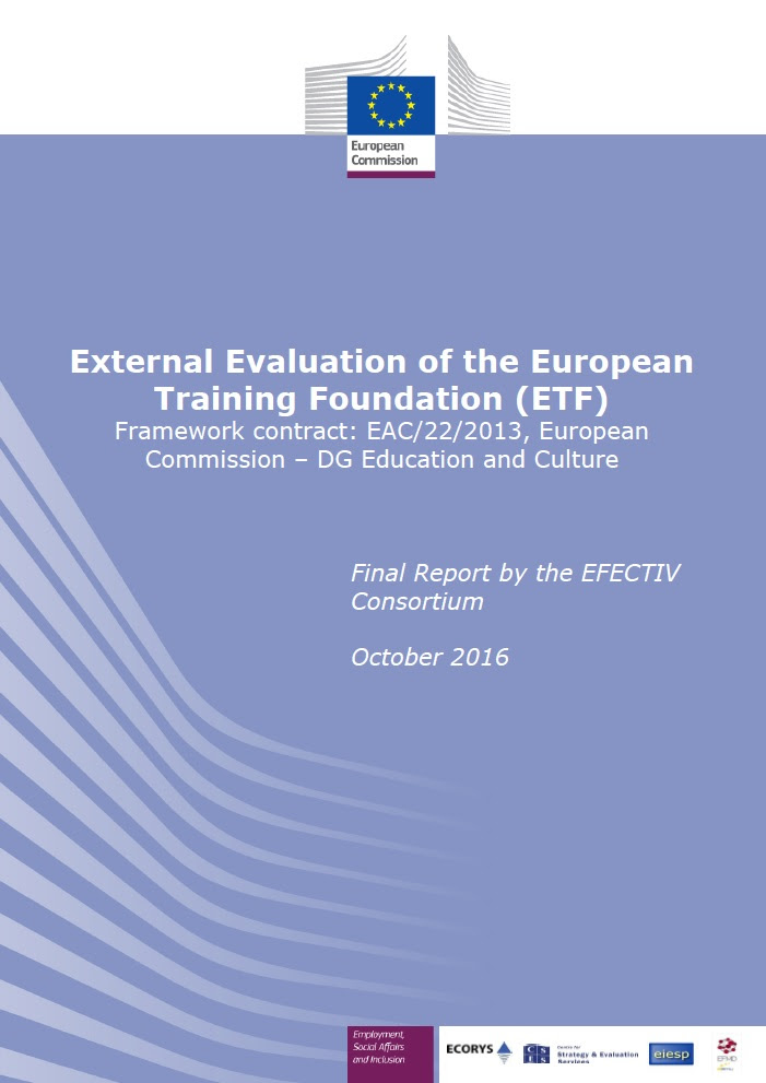 External Evaluation of the European Training Foundation