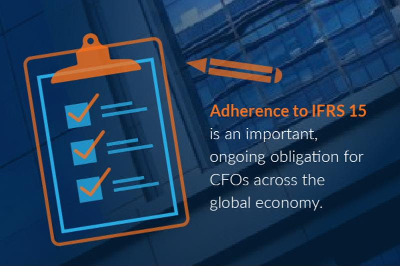 IFRS 15 focuses on providing best practices and guidance for reporting revenue stemming from the contracts a business enters into with its customers.