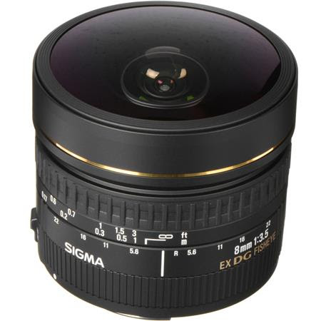 8mm f/3.5 EX DG Circular Fisheye Auto Focus Lens for Canon EOS Cameras - USA Warranty