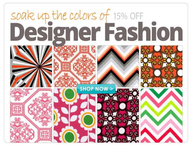 15% off All Designer Fashion Fabrics
