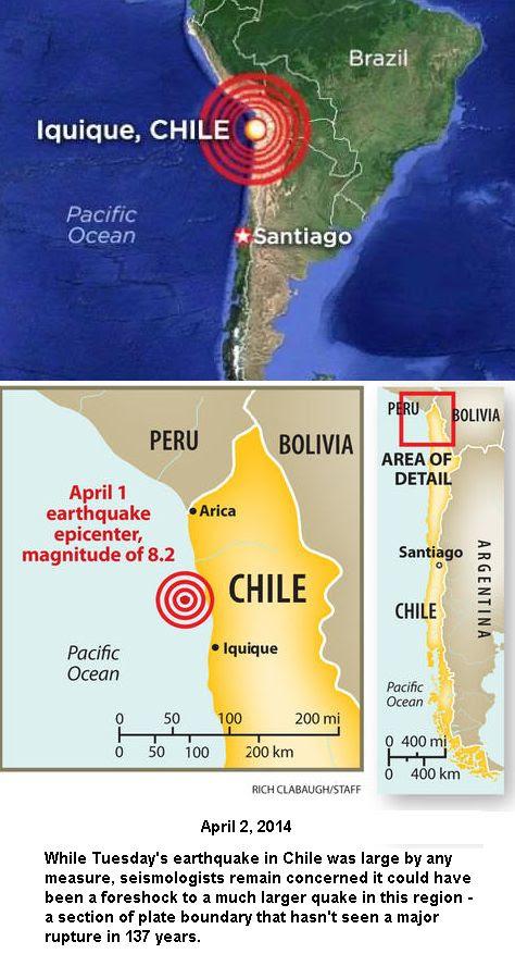 Locaton of Chile Earthquake