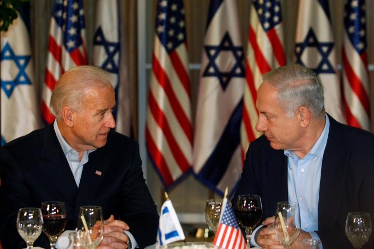 Joe Biden and Benjamin Netanyahu