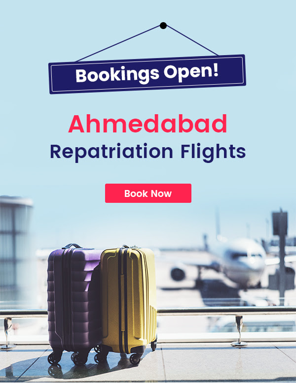Let's go home, bookings open for repatriation flights to Ahmedabad