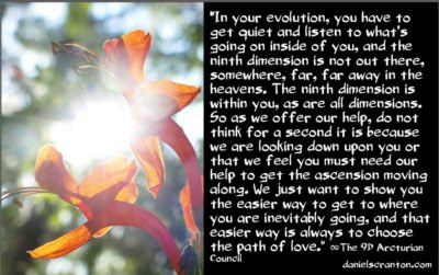 the easier path to the fifth dimension - the 9d arcturian council channeled by daniel scranton channeler of archangel michael