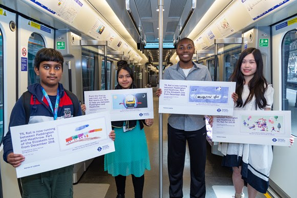 TfL Press Release - Talented young Londoners' artwork showcased in new TfL Rail trains from Paddington