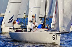 J/70 Mark Ploch sailing Quantum Winter Series Tampa