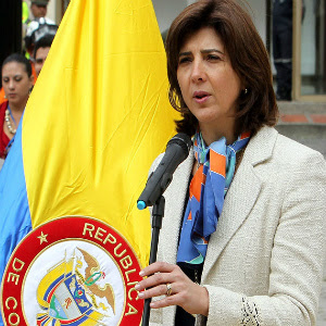 La canciller colombiana, María Ángela Holguín