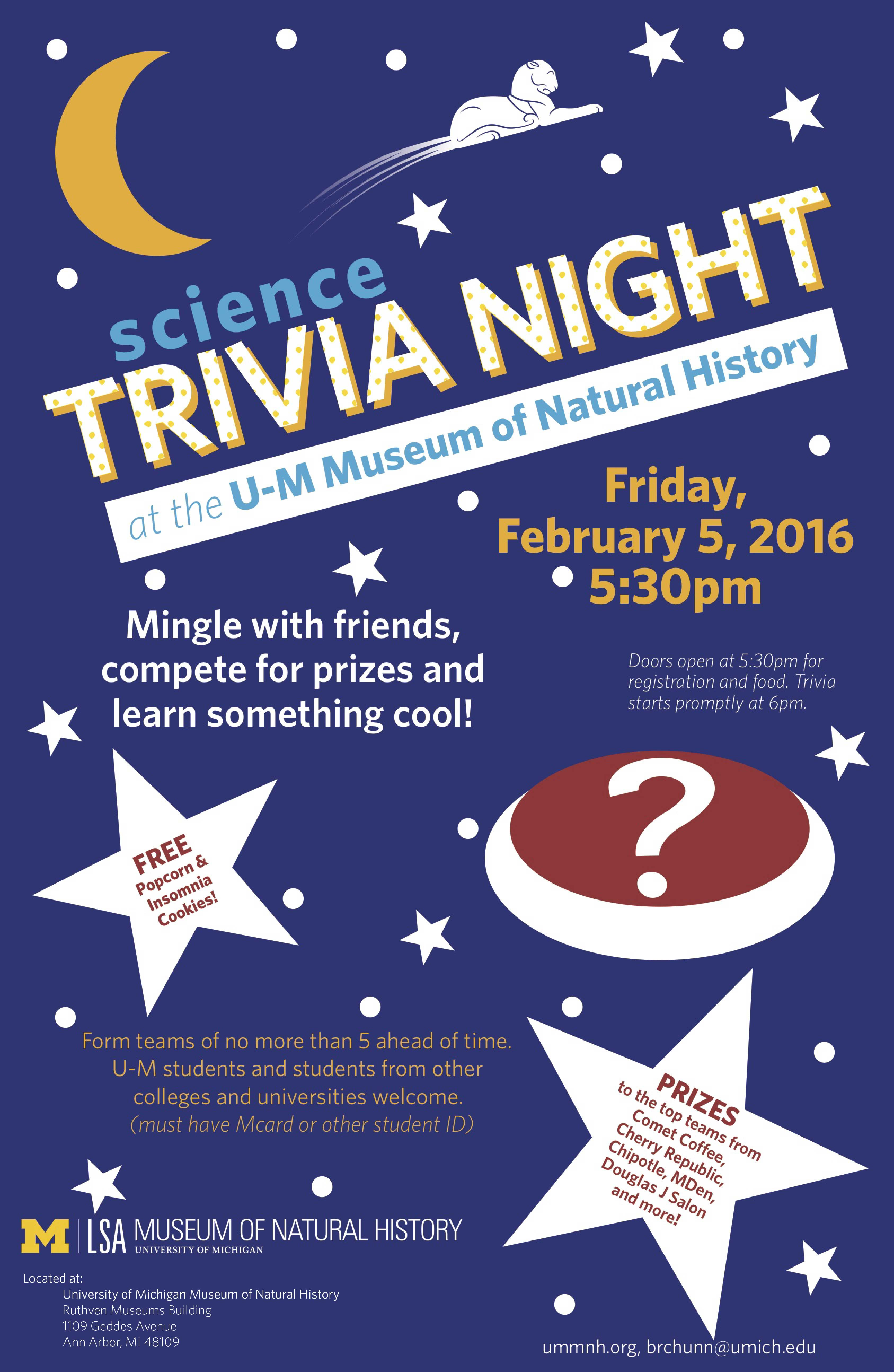 Science Trivia Night Poster