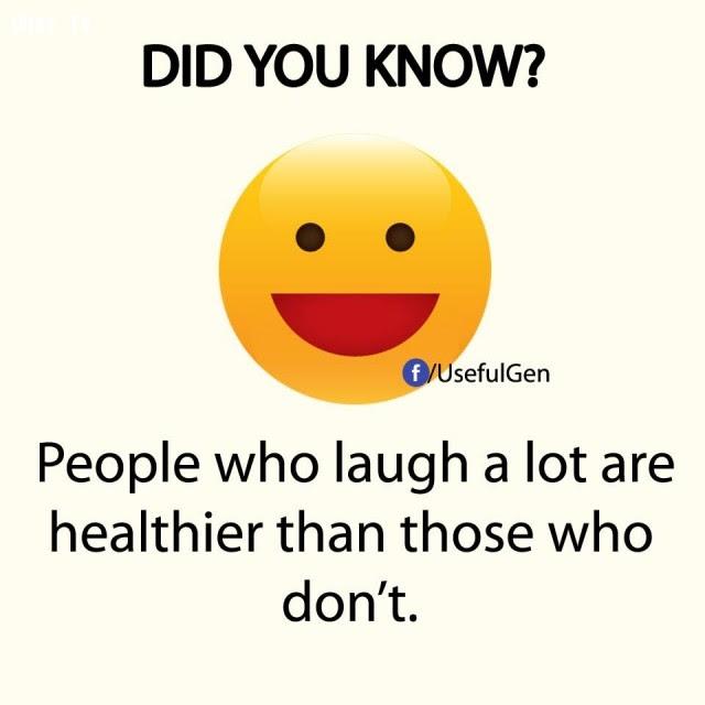 2. Những người cười to nhiều luôn khỏe mạnh hơn những người khác.,sự thật thú vị,sự thật đáng kinh ngạc,những điều thú vị trong cuộc sống,có thể bạn chưa biết