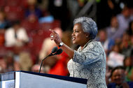 Donna Brazile, the interim chairwoman of the Democratic National Committee, last week at the party's convention in Philadelphia.